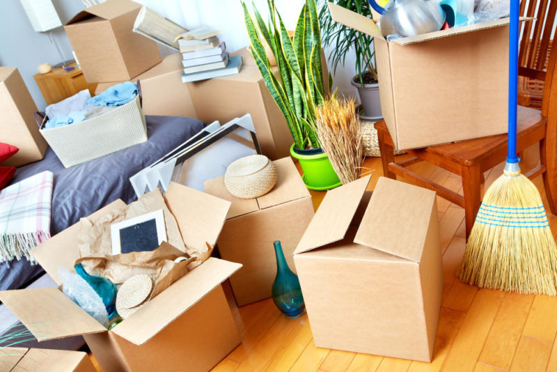 moving boxes in house - last-minute moving tips